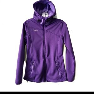 O'Neill soft shell purple jacket